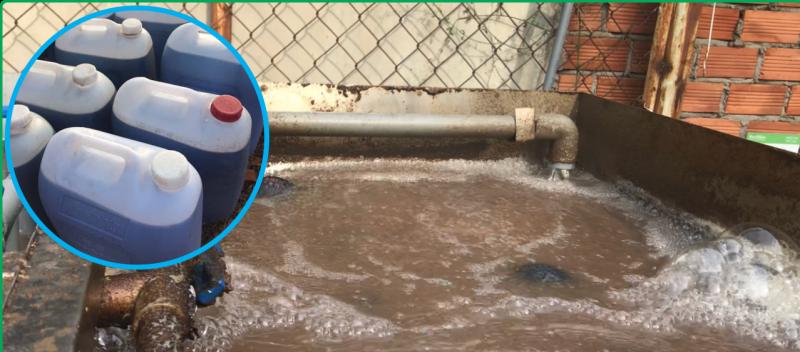 châm mật rỉ đường cho nước thải